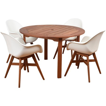 International Home Amazonia Charlotte Deluxe 5 Piece Patio Dining Set ()