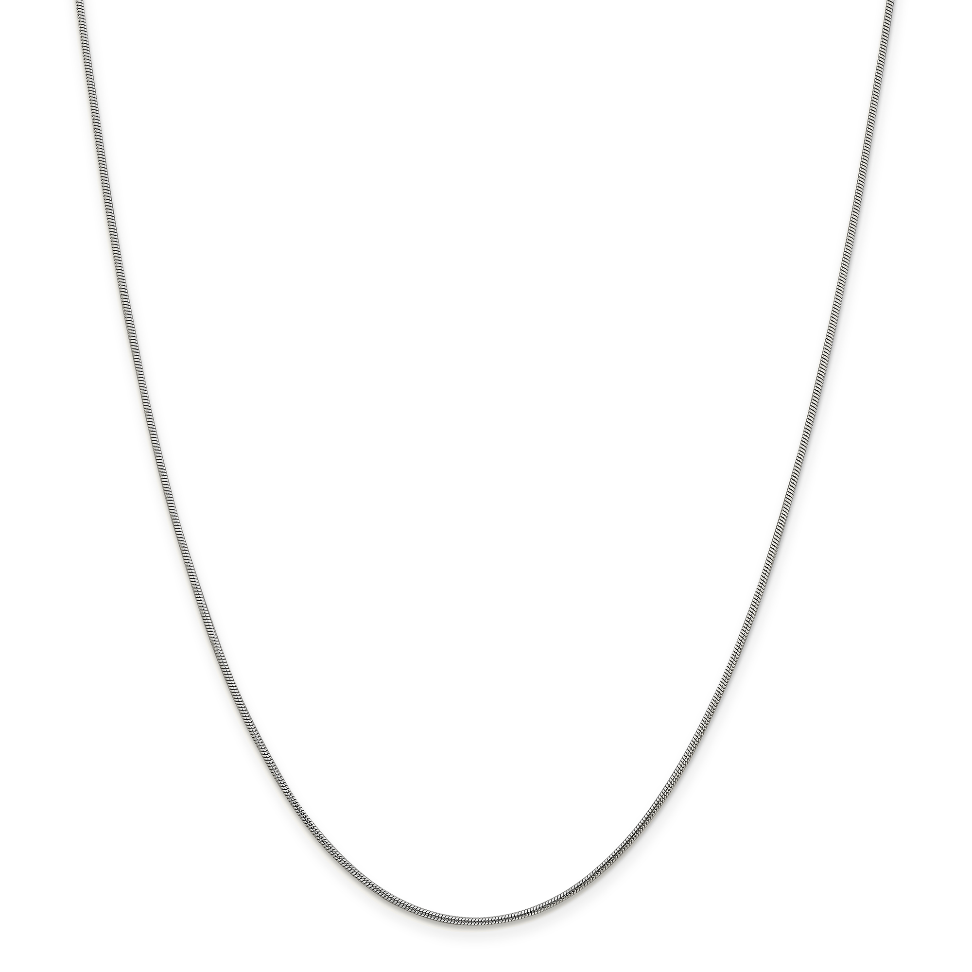 925 Sterling Silver 1.2mm Round Snake Chain Necklace 30 Inch Pendant Charm Fine Jewelry Gifts For Women For Her - image 5 de 5