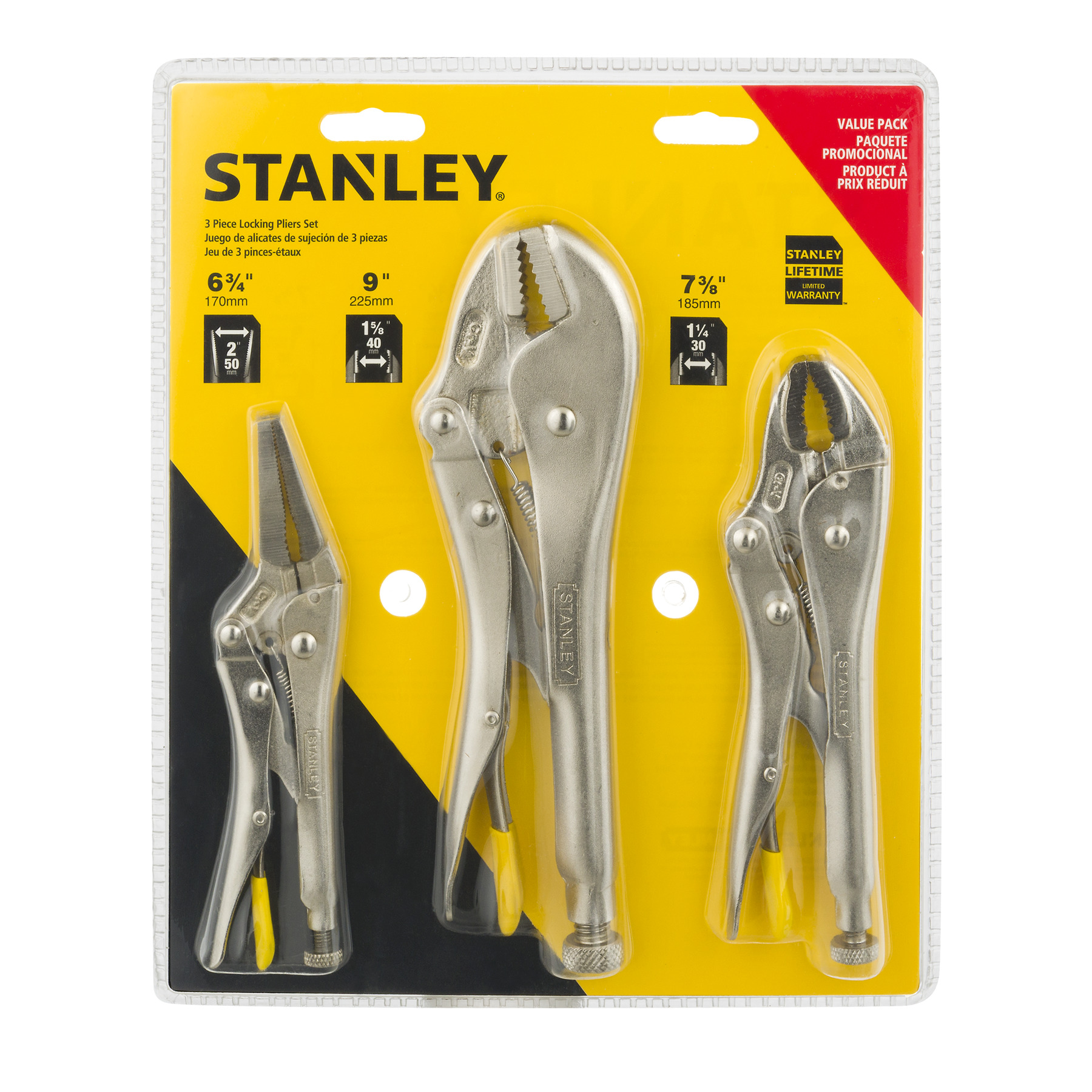 Stanley Locking Pliers Set - 3 PC, 3.0 PIECE(S)