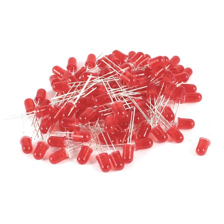 - Unique Bargains 100pcs 0.2-inch Dia Head Red  Light Emitting Diode