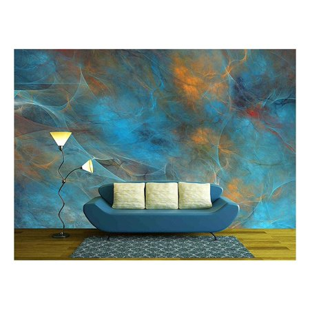 wall26 - Abstract Shapes Made of Fractal Textures. - Removable Wall Mural | Self-adhesive Large Wallpaper - 66x96 inches