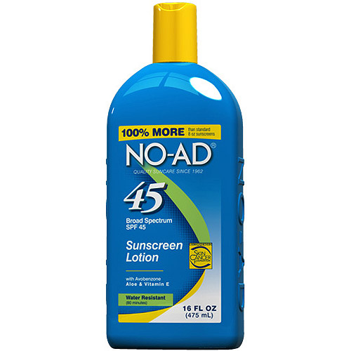 NO AD SPF 45 Sunscreen Lotion, 16 fl oz