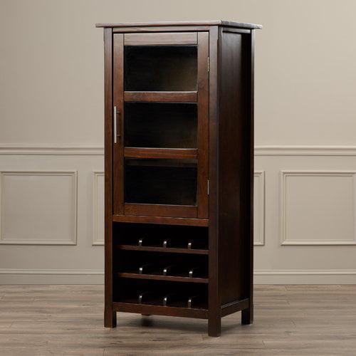 Simpli Home Avalon High Storage Wine Rack Cabinet by CCT Global Sourcing Inc