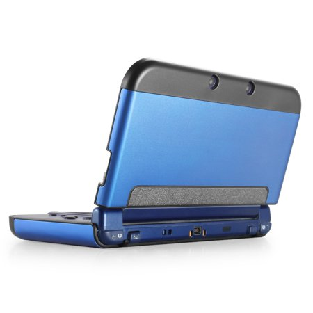 New 3DS XL Case (Navy Blue) - Plastic + Aluminium Full Body Protective Snap-on Hard Shell Skin Case Cover for New Nintendo 3DS LL XL 2015 - [New Modified Hinge-less (Hard Plastic Skin Case)