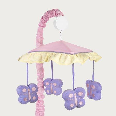 Sweet Jojo Designs Pink And Purple Butterfly Crib Mobile Walmart Com