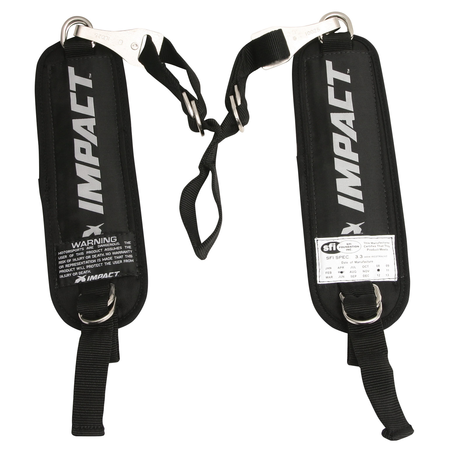 IMPACT RACING 75000910 Black Adult Y-Strap Arm Restraint Harness Kit