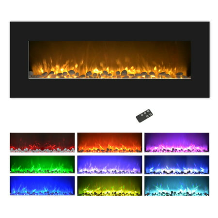 Electric Fireplace Wall Mounted Color Changing Led Flame
