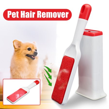 Pet Fur & Lint Remover with Self-Cleaning Base Brush Removes Dog & Cat Hair from Clothes &