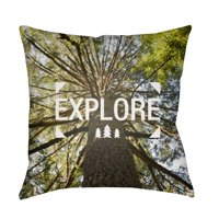 Surya Explore Tree Print Outdoor Pillow