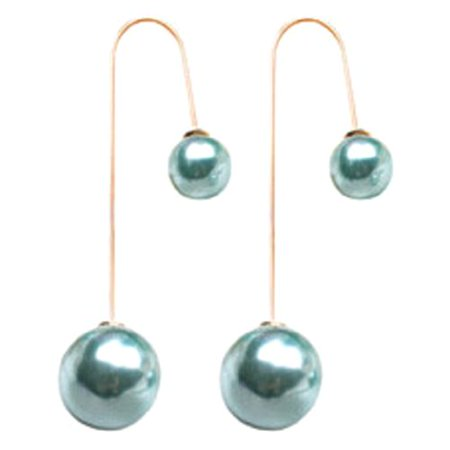 KABOER 3 Pairs 2019 New Fashion European and American Double-sided Pearl U-shaped Earrings Jewelry Accessories American Pearl Earrings
