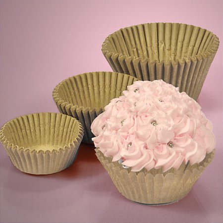 UnBleached Eco Friendly Large 2-1/4 x 1-7/8 Cupcake Muffin Wrapper Baking Cups, pack of - Large Cupcake