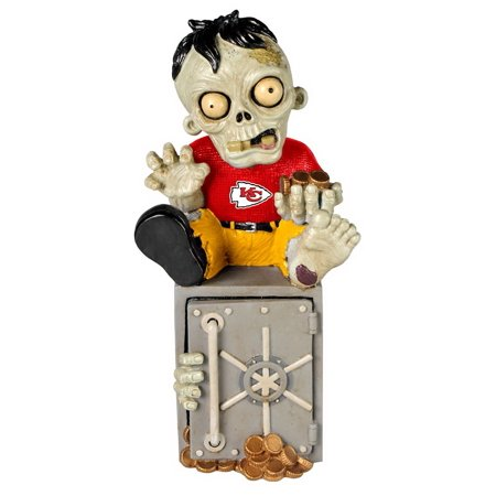 Kansas City Chiefs Zombie Figurine Bank