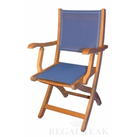 Set of 2 naturalteak outdoor patio folding dining chairs w for Fabric for outdoor chairs