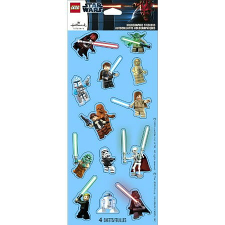 Lego Star Wars Holographic Sticker Sheets 4ct Boy Party Supplies, Ideas, Favors (Star Wars Favor Ideas)