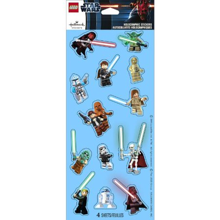 Lego Star Wars Holographic Sticker Sheets 4ct Boy Party Supplies, Ideas, Favors