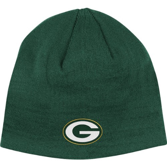 Reebok Green Bay Packers Basic Uncuffed Knit Hat One Size Fits All