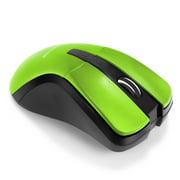 Insten 2.4GHz USB Portable Wireless Cordless 4 Keys Optical Game Gaming DPI Mouse for Computer Laptop Desktop PC Mac, Green