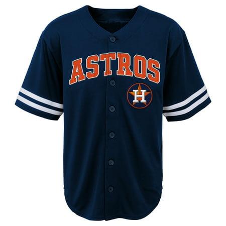 - MLB Houston ASTROS TEE Short Sleeve Boys Fashion Jersey Tee 60% Cotton 40% Polyester BLACK Team Tee 4-18