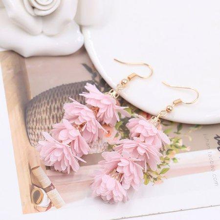 KABOER New Fashion Cloth Flower Long Fringe Earring Boho Retro Handmade Tassel Drop Dangle Earrings Women Charm Party Engagement Earring Wedding Jewelry Gift Charm Earrings Jewelry