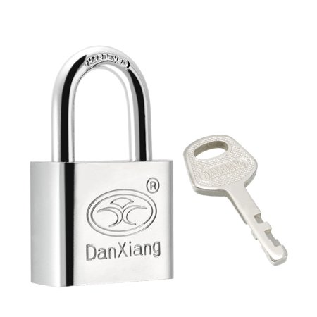 30mm Body Wide Stainless Steel Padlock Chrome Plated Shackle, Keyed (Plated Padlock)