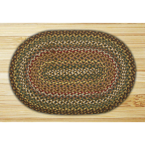 Earth Rugs Fir/Ivory Braided Area Rug