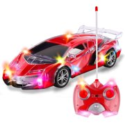 RC Remote Control Racing Car | 1:24 Scale Radio Control Sports Car Flashing LED Lights | Ideal Gift Toy Kids