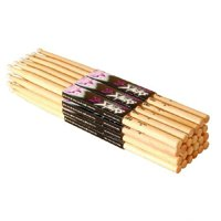 On Stage Maple 5B Nylon Tip Drumsticks 12 Pairs