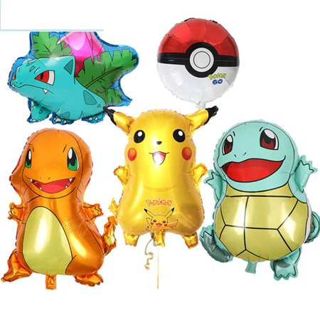 Large Pokemon, Pikachu & Friends Birthday Party Balloons,
