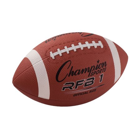 Champion Sport Official Size Rubber Football With Raised Laces