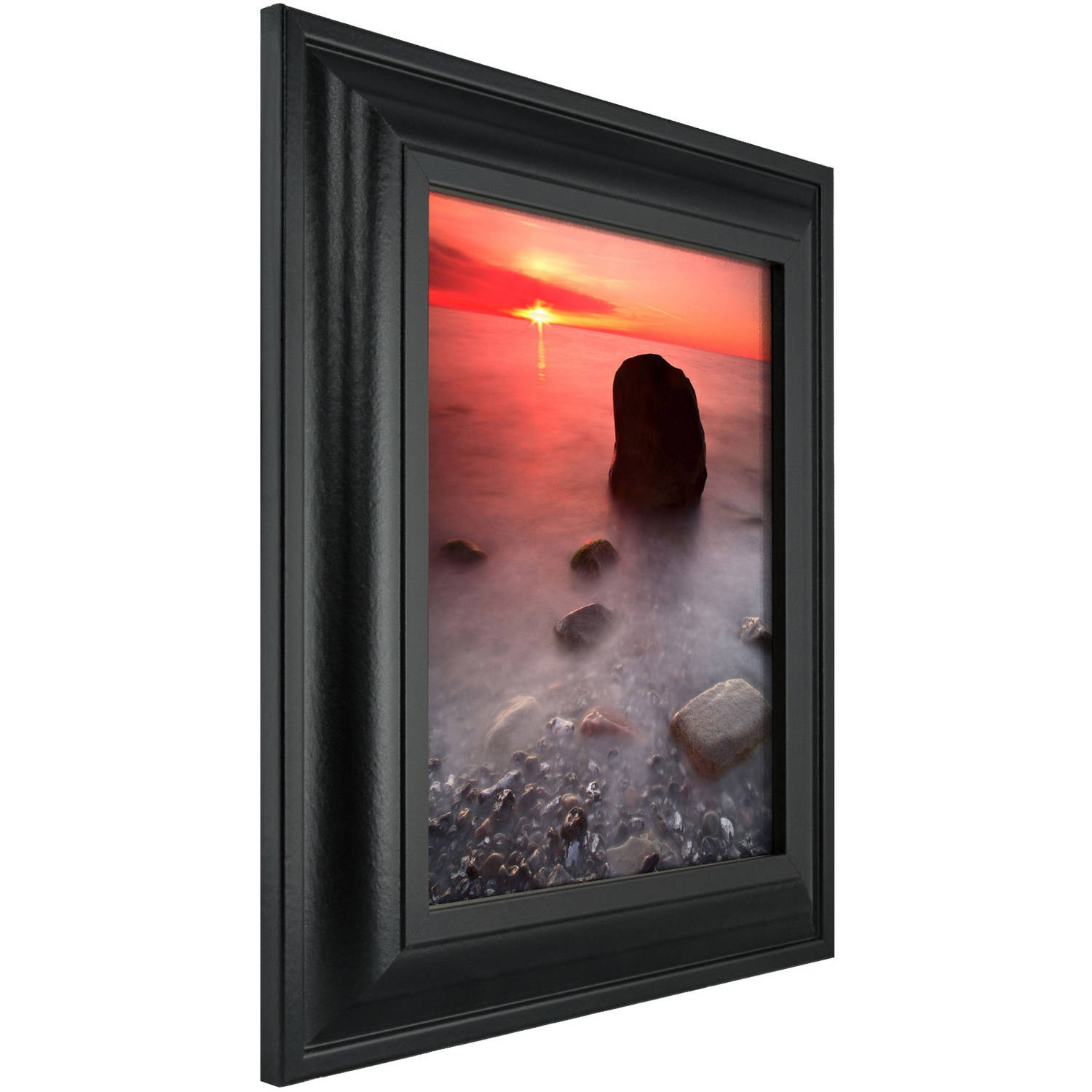 Contemporary Upscale Satin Black Picture Frame