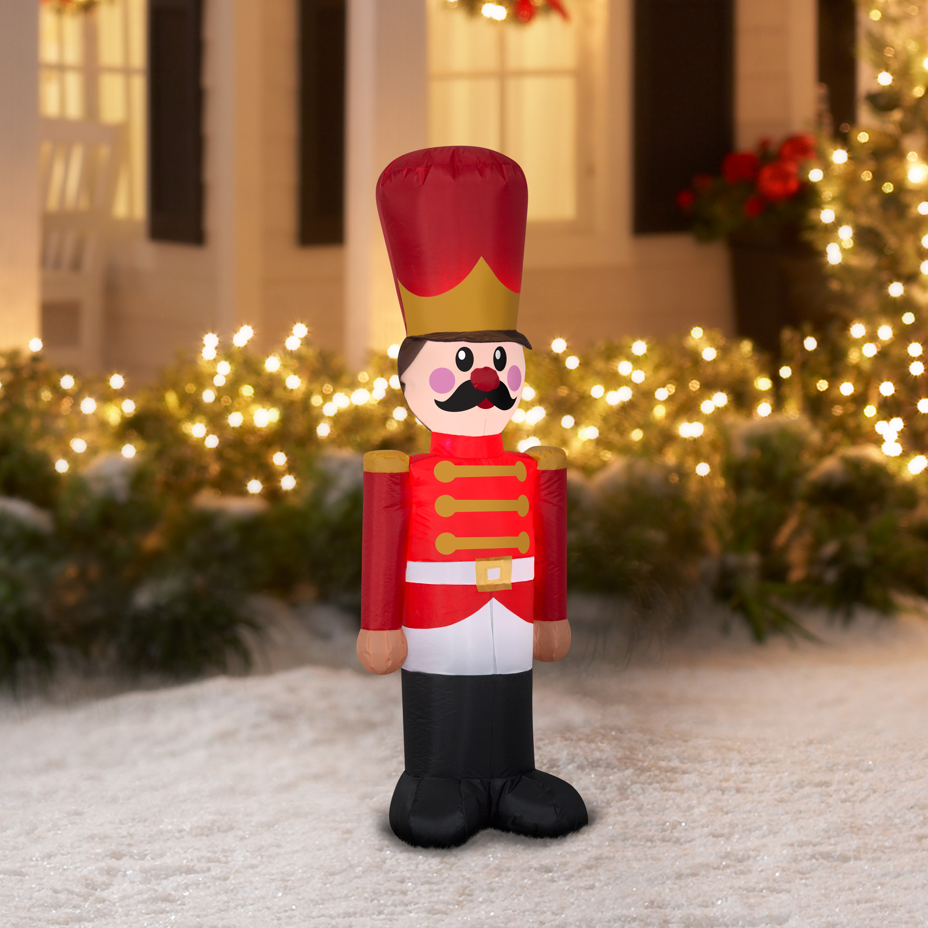 Christmas Decoration Inflatable Toy Soldier 4\' Nutcracker Xmas Front ...