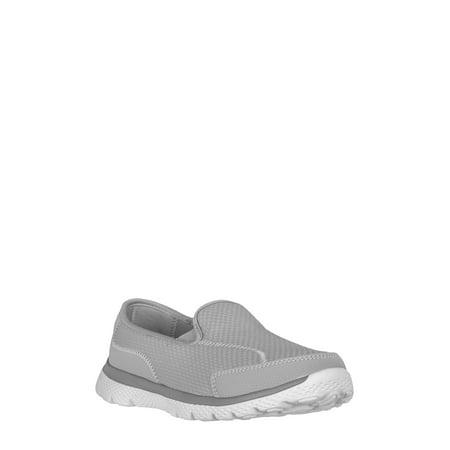 Athletic Works Women's Wide Width Knit Slip on Shoe - Playboy Womens Shoes