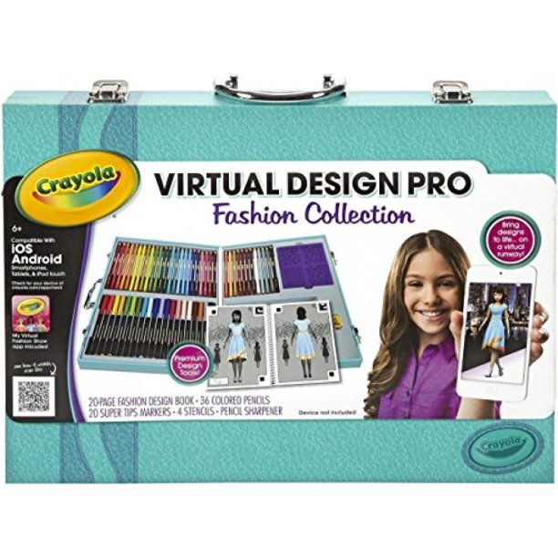 Crayola Virtual Design Pro Fashion Collection Set 04 1921 Crayola Travel Kit Walmart Com Walmart Com