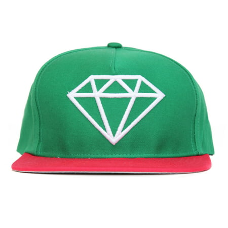 Diamond Supply Co. Men's Brilliant Snapback Hat-Green/Red ()