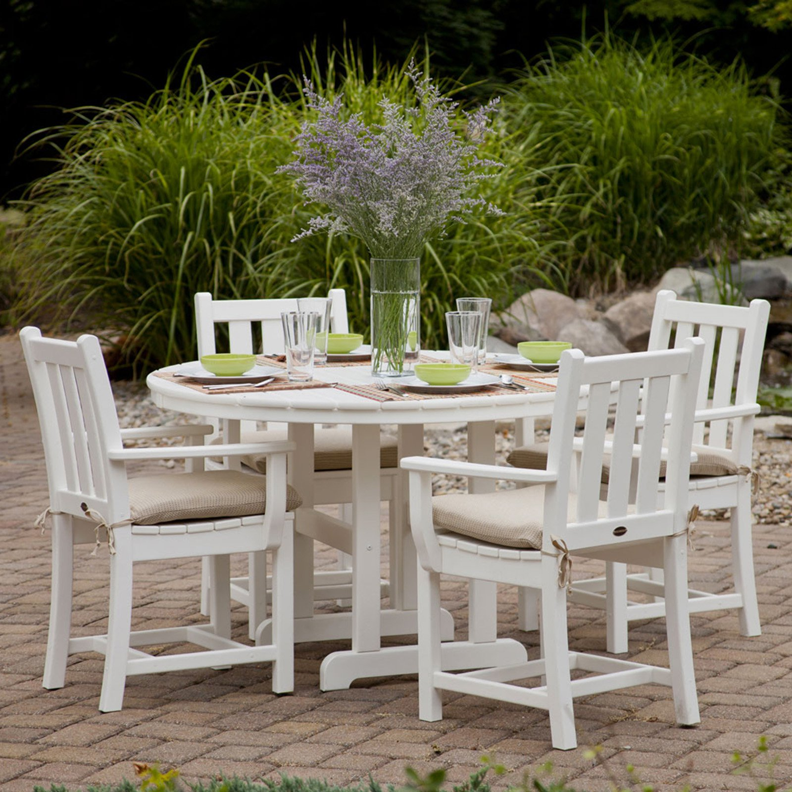 POLYWOOD® Traditional Garden Dining Set - Seats 4