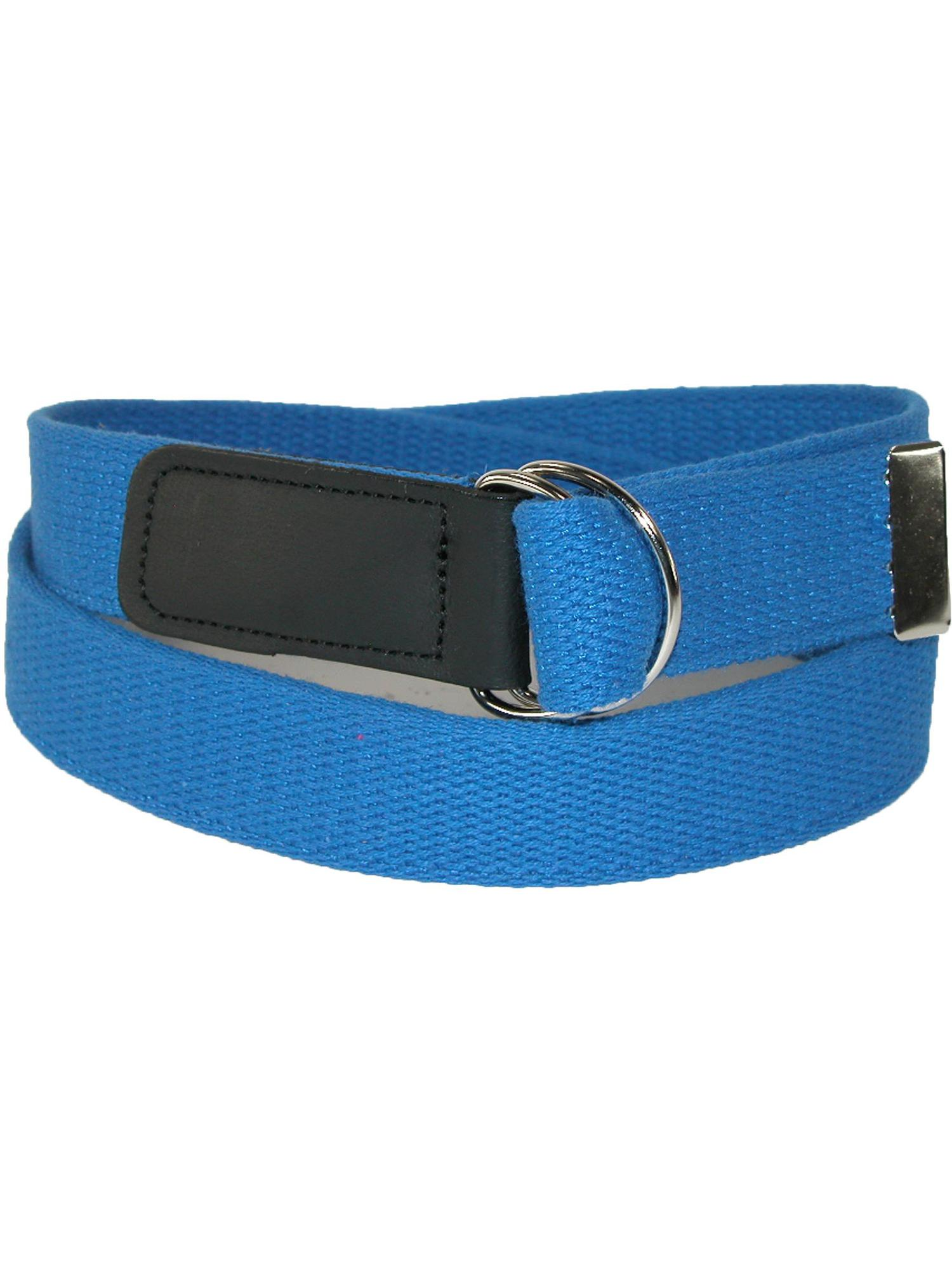 Size one size Cotton Web 1 1/4 Inch Belt with Double D Ring Buckle