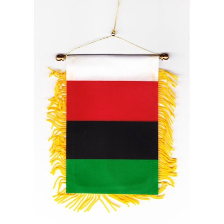African Flag (African American Window Hanging)