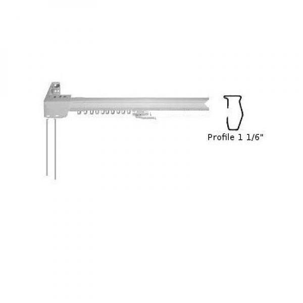 center Draw White Graber Super Heavy Duty Traverse Curtain Rod 38-66 Inch