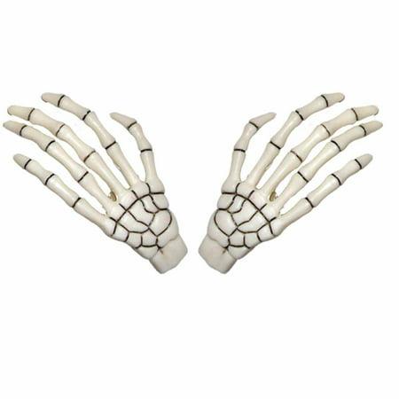 White Skeleton Hands Hair Clip Halloween Horror Accessory Kreepsville 666
