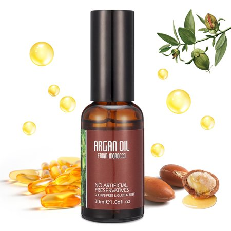 Natural Moroccan Argan Oil for Damaged Hair, Dry Skin, & Nail Care, Cold Pressed Glycerine Oil, Stimulate Hair Growth, Skin moisturizer, Nail Protector, Moisturizing