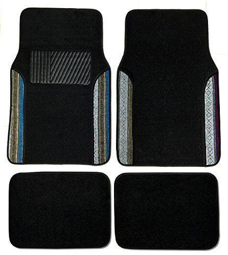 Premium Carpet 4PC Front & Rear Driver Passenger Floor Mats Cars Trucks Sedans SUVs (Baja Inca)
