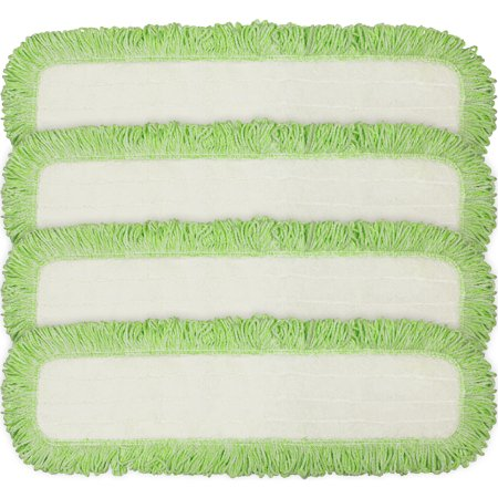 Pad Refill Pack (Eurow Commercial Microfiber Dry Mop Pad Refill 24 In Green 4)