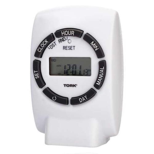 TORK 454E Plug In Timer,White,Indoor,125V,Digital G1803280