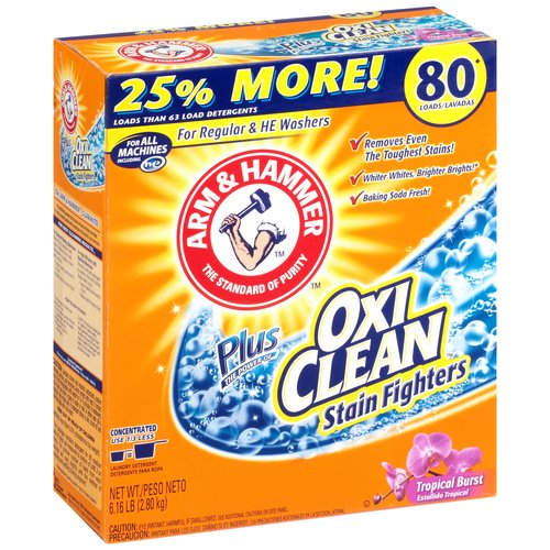 Arm & Hammer Plus OxiClean Tropical Burst Laundry Detergent, 6.61 lbs