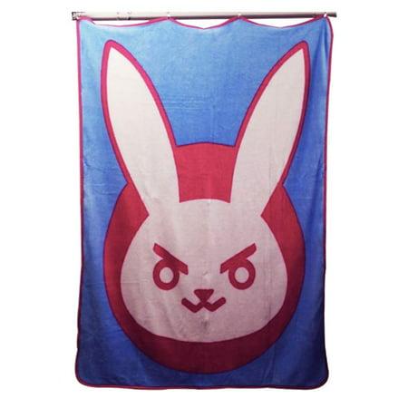 Overwatch D. VA Self Destruct Icon Fluffy Blanket/Comforter, 220 GSM Flannel Fleece, Set of 1, 45 X 60 inches, Gift - Throw, Blankets, Travel Blanket (X Games Comforter)