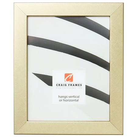Craig Frames Bauhaus 125, Modern Brushed Gold Picture Frame, 8 x 12 Inch ()
