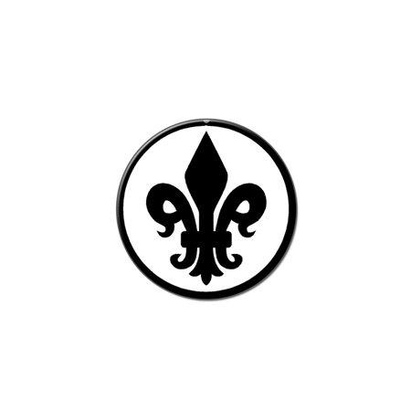 Fleur De Lis Formal - Black Lapel Hat Pin Tie Tack Small Round