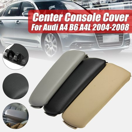 Audi A4 Spoiler - Plastic Center Console Leather Armrest Cover For Audi A4 B7 2002 2003 2004 2005 2006 2007 Black Grey Beige