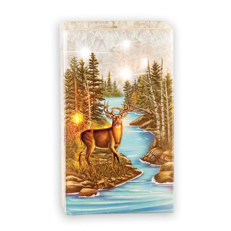 Lighted Glass Deer Scene Decorative Tabletop Lamp with Warm White LED Lights to Illuminate the Scene with a Warm - Deer Tabletop