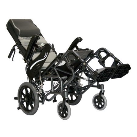 Karman Healthcare Vip 515 Tp 16 Foldable Tilt In Space  Diamond Black  14 Inches Rear Wheels And 16 Inches Seat Width